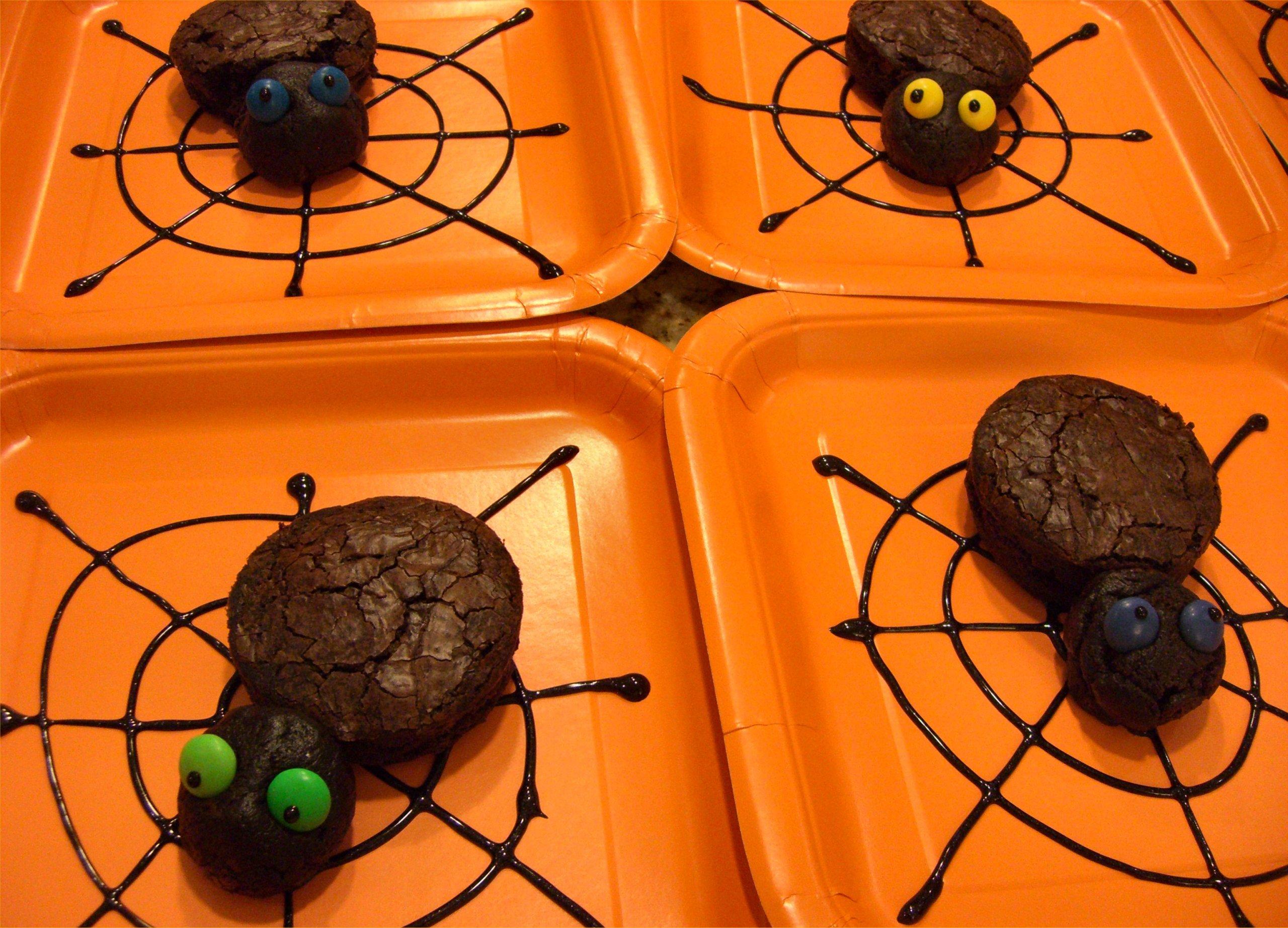 just in time for halloween eeeeeeeeek brownie spiders inside