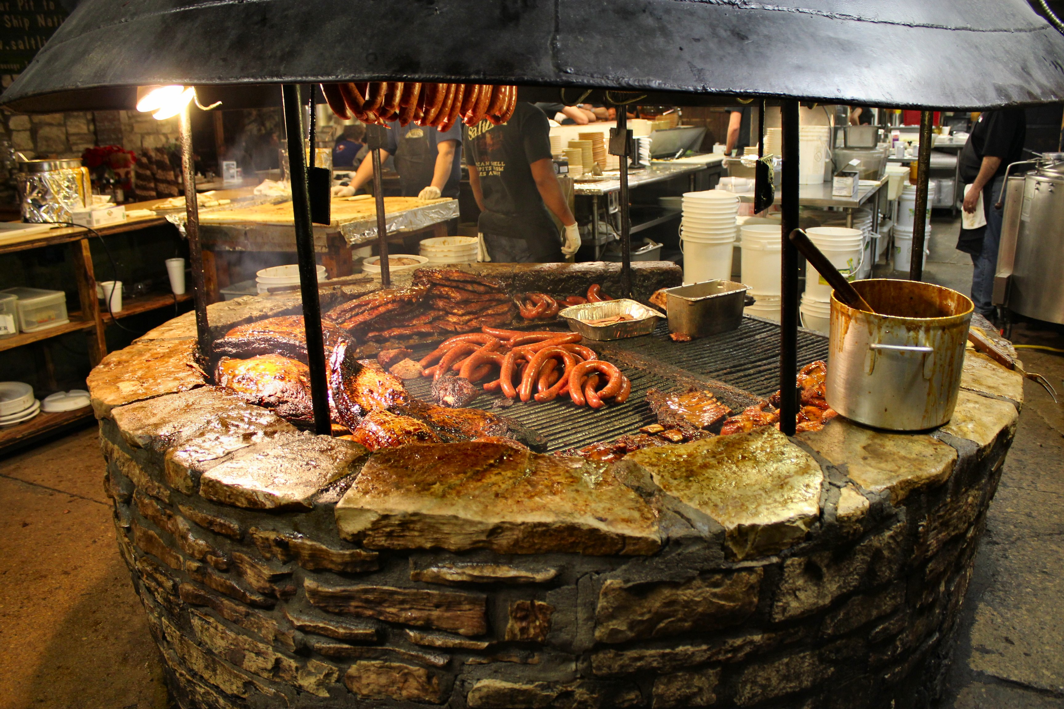 Buy local spotlight salt lick bbq inside nanabread 39 s head for Fireplace and bbq