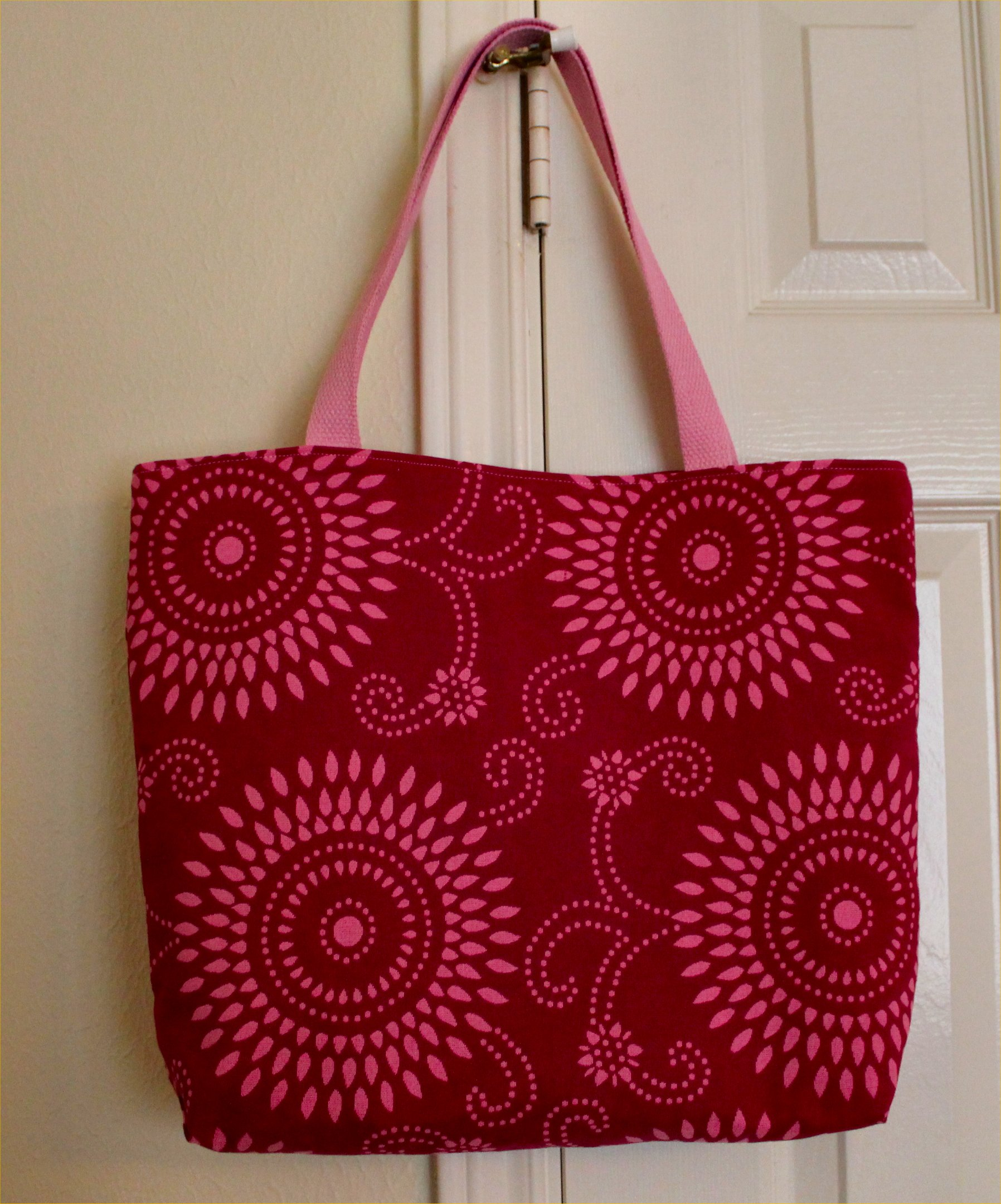 how to make a tote bag out of upholstery fabric samples | Inside ...