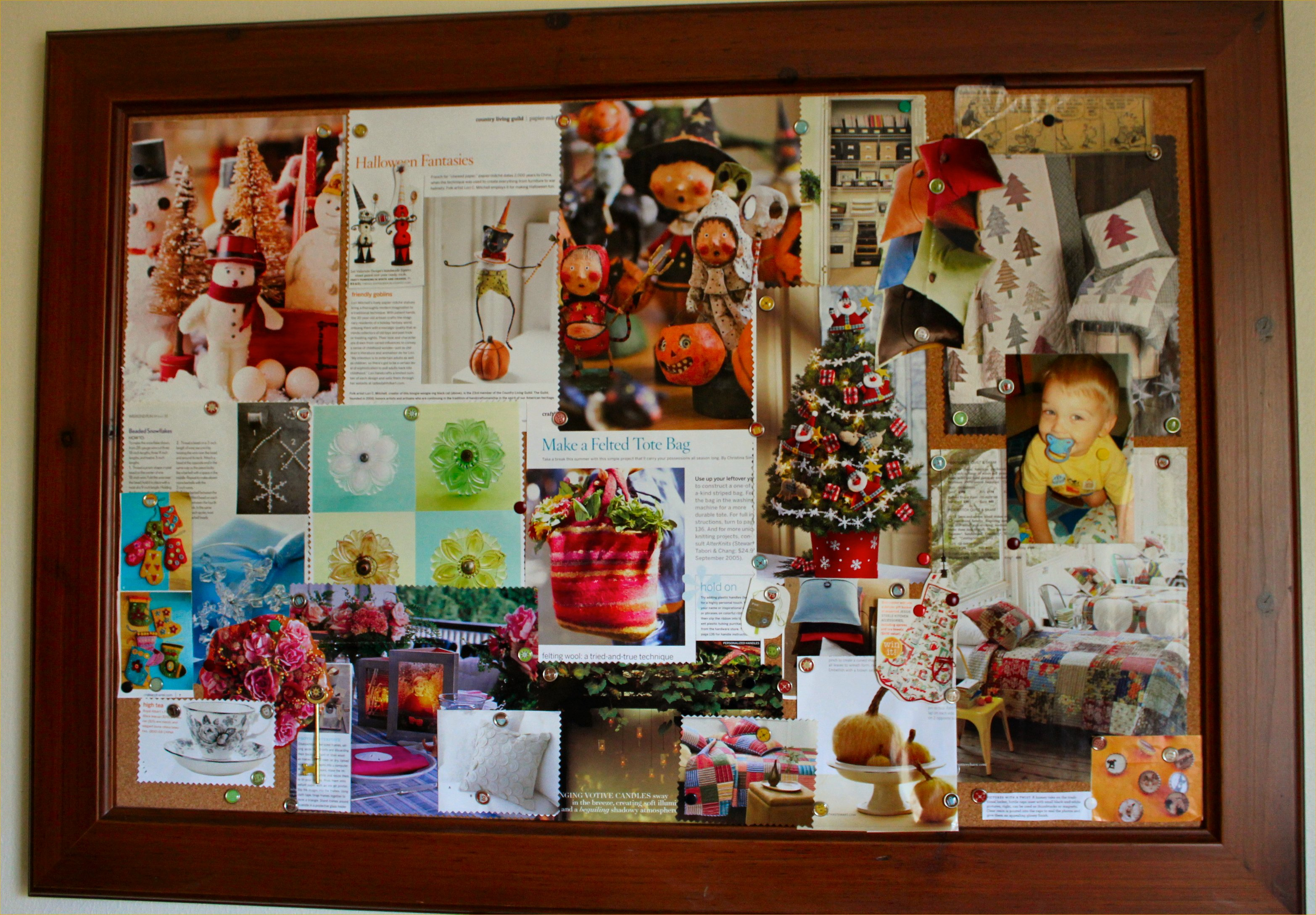 Where do you find your inspiration inside nanabread 39 s head for Cork board ideas