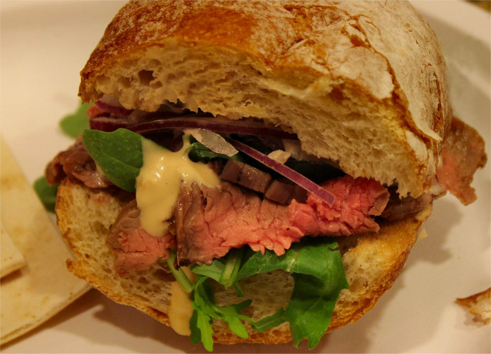 , TCP made one of his signature dishes – flank steak sandwiches ...