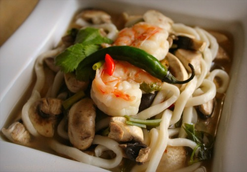 Tom Yum Goong Soup - CloseUp
