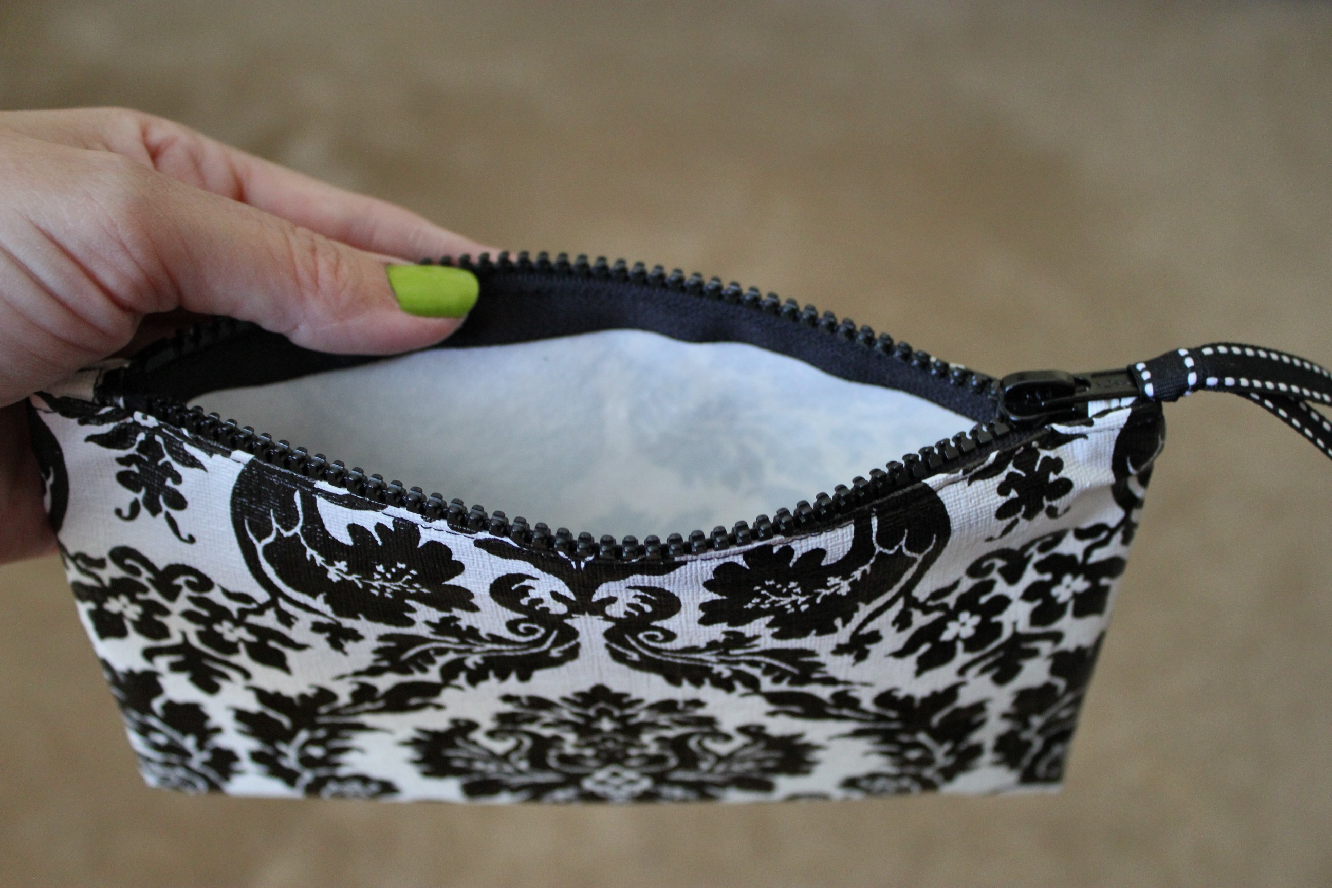 Diy Craft Zippered Cosmetic Bags Inside Nanabread S Head