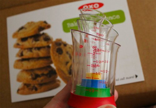 Cookie Week '12 - Turtle Thumbprints - OXO Mini Measuring Cups