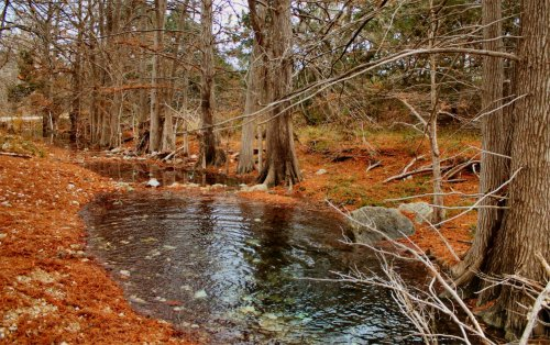LeakeyTX - Creek at the Cabin