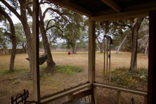 LeakeyTX - Porch View of Front Yard