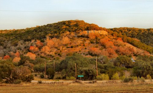 LeakeyTX - View of Bluff at Sunset
