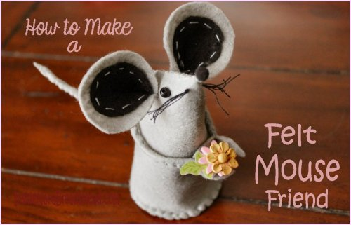 Felt Mouse Tutorial - 1Header with Text
