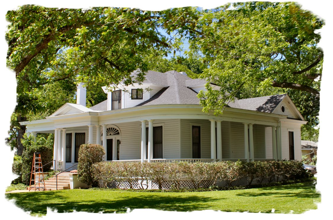 Postcards from small town texas inside nanabread 39 s head for House plans with large porches