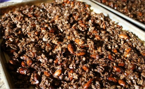 Almond Joy Granola - Baked - Inside NanaBread's Head