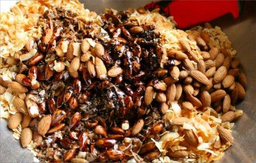 Almond Joy Granola - Freshly Baked - Inside NanaBread's Head