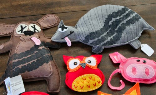 Road Kill Rice Bags - Dog, Armadillo, Owl & Pig
