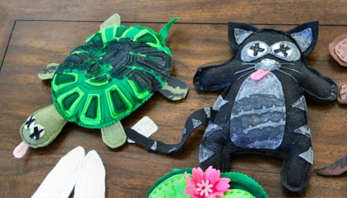 Road Kill Rice Bags - Turtle & Cat
