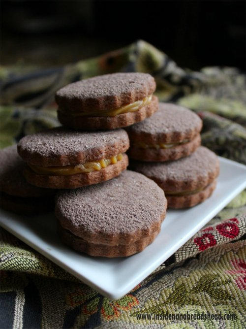 Chocolate Alfajores for Caramel Week - Inside NanaBread's Head