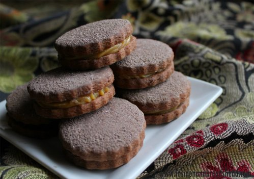 Chocolate Alfajores with Salted Vanilla Bean Caramel - Inside NanaBread's Head