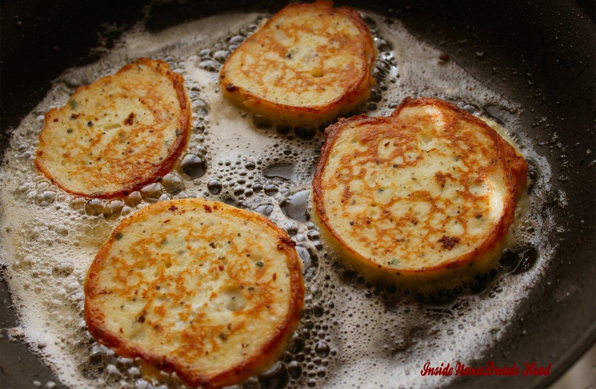 Crispy potato pancakes inside nanabreads head potato pancakes frying ccuart Gallery