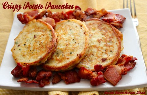 Potato Pancakes - Plated