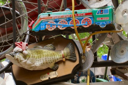 Cathedral of Junk - Billy Bass & Train