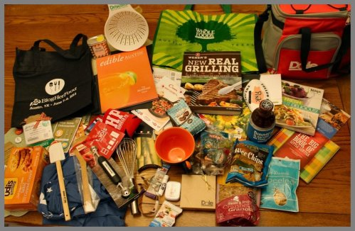 Swag Aftermath – this is only two-thirds of what I received at BlogHerFood.