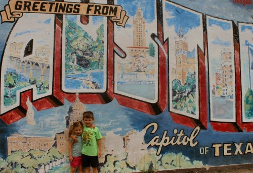 Lilly & Jonah at Austin Mural