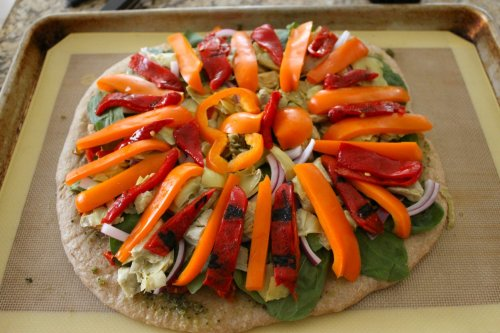 Veggie Pizza - orange bell pepper & piquillo peppers