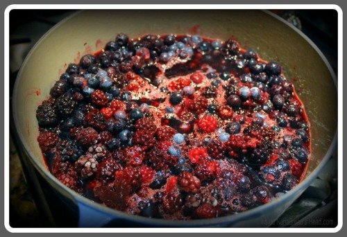 Black & Blue Jam - Berries in the Pot