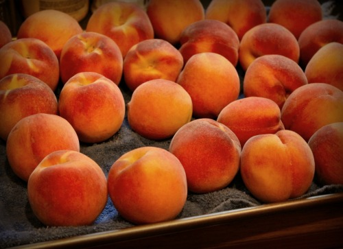 A perfect peck of peaches from Poteau, Oklahoma. Gorgeous!