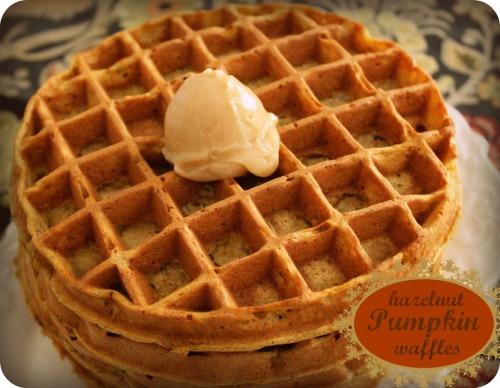 Pumpkin Hazelnut Waffles - Title Text
