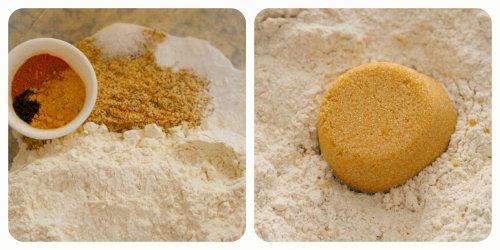 Pumpkin Waffles - Dry Ingredients Collage