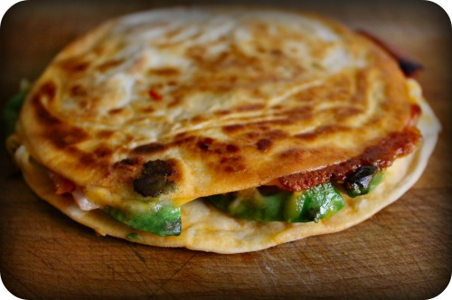 Weber  - Avocado, Red Onion & Sun-Dried Tomato Quesadillas