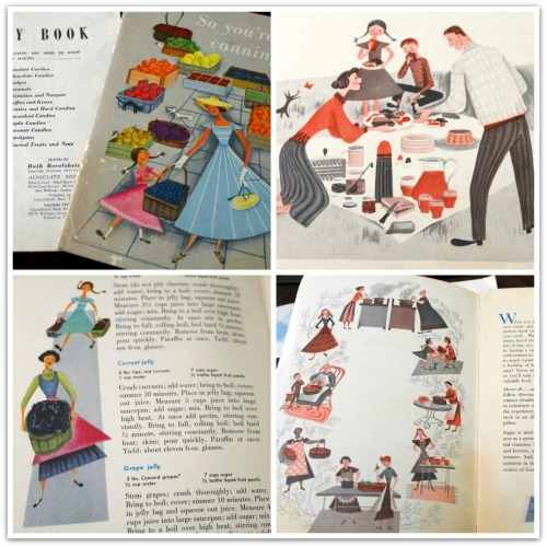40's Cookbook Art Collage