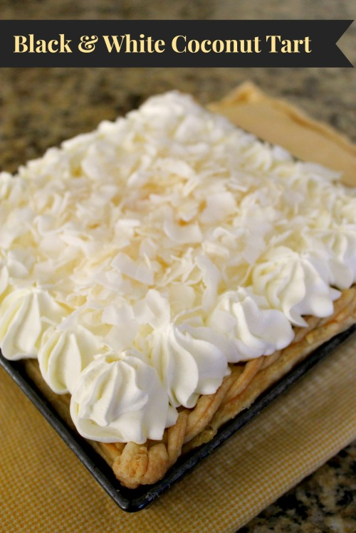Black & White Coconut Tart - Banners