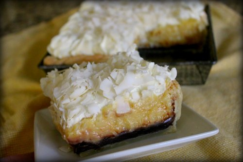 Black & White Coconut Tarts - A Slice