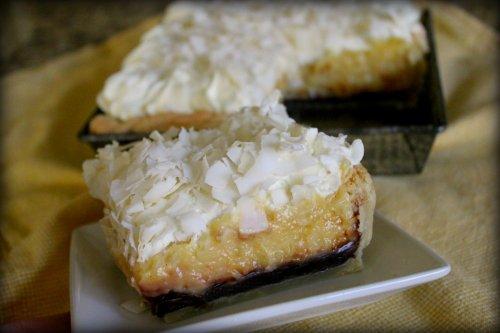 Black & White Coconut Tarts - A Slice