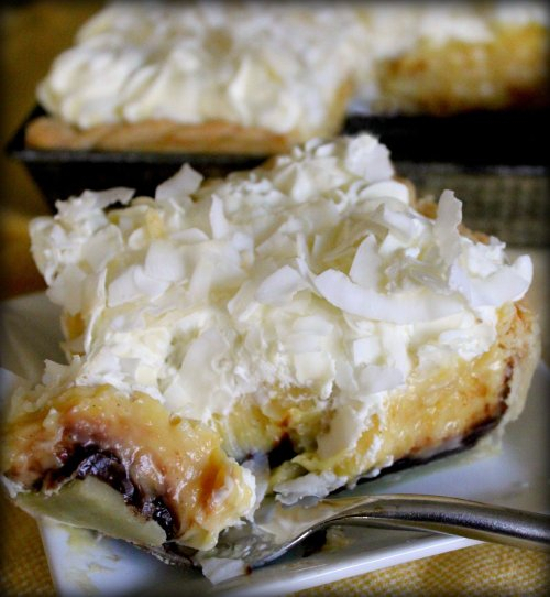Black & White Coconut Tarts - My Slice