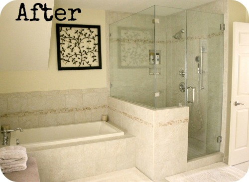 MBR Project - Finished Shower & Tub