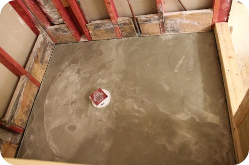 MBR Project - New Shower Concrete