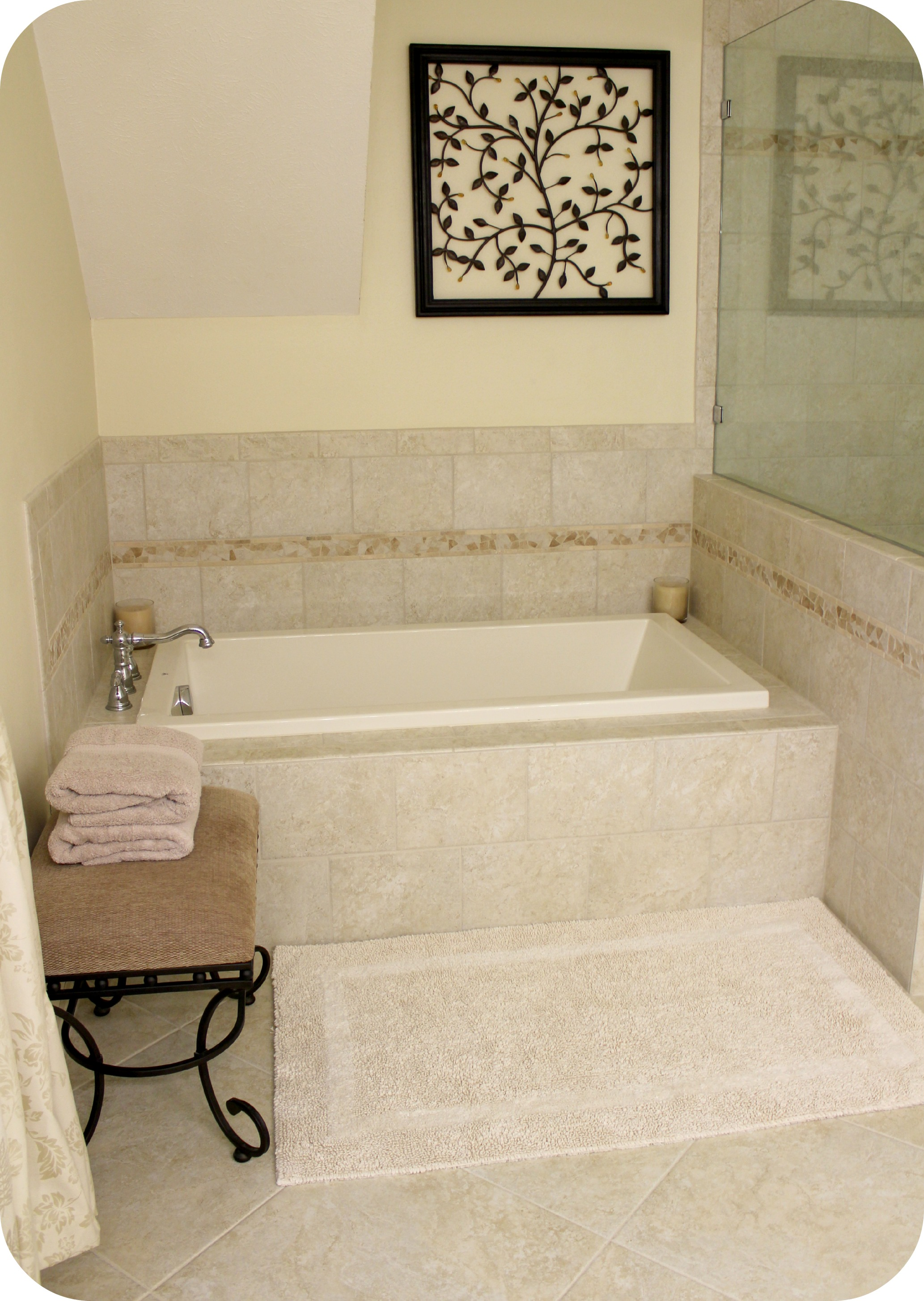 The master bath remodel project inside nanabread 39 s head - Soaking tubs for small bathrooms ...