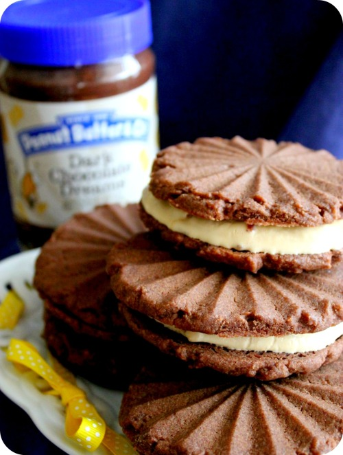 Dark Chocolate Dreams PB Cookies & Salted Caramel Ice Cream Sandwiches - Stacks & Jar