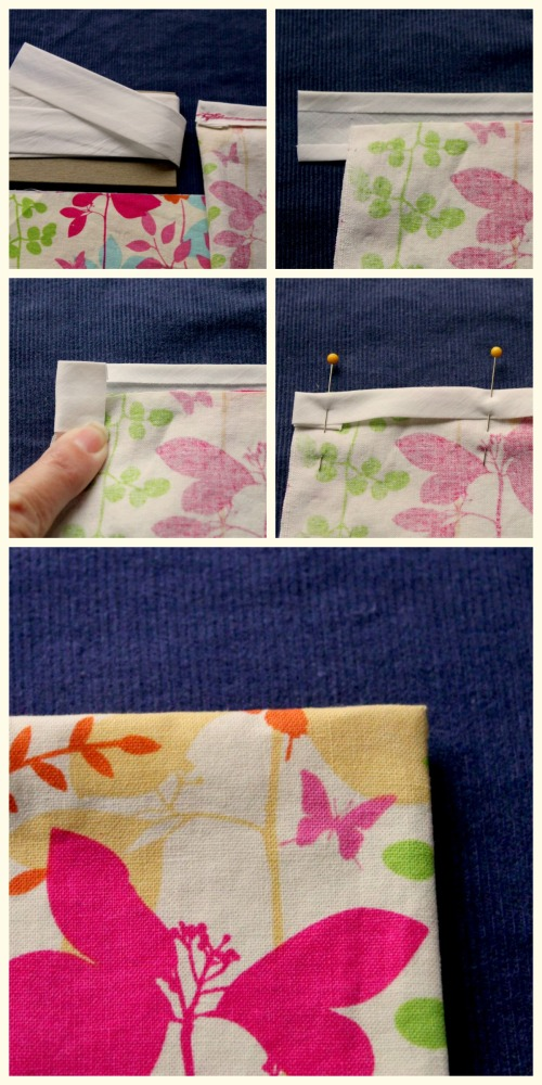 DIY Pillowcase - Bias Tape Collage
