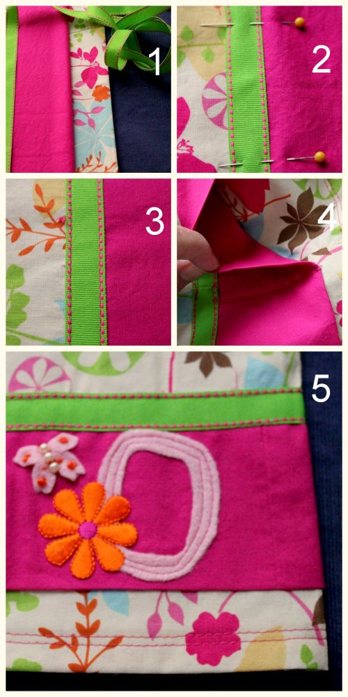 DIY Pillowcase - Ribbon Collage