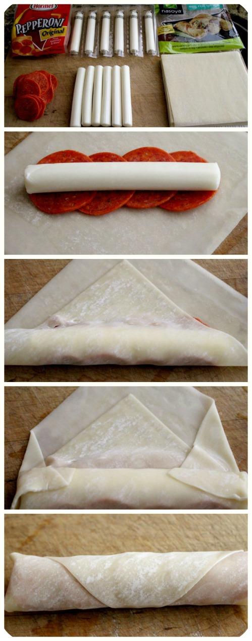 Pizza Rolls - Wonton Style - Collage