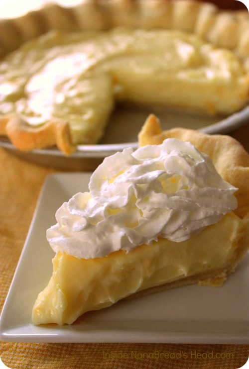 Lemon Sour Cream Pie - Inside NanaBread's Head