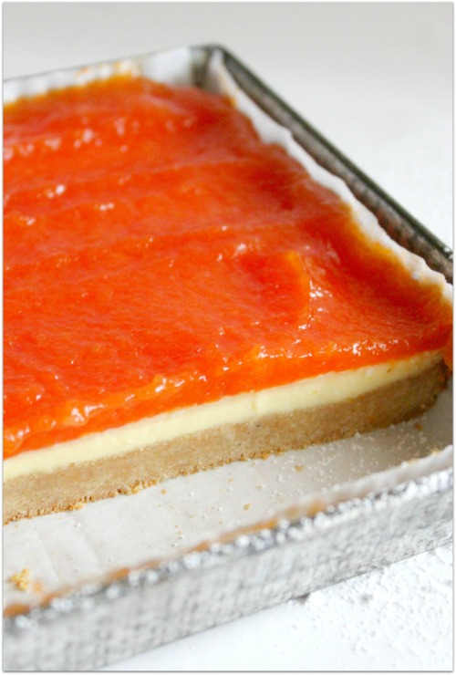 Papaya Cheesecake Bars - In the Pan