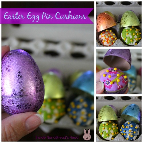 Pin Cushion Crafts - Easter Egg Pin Cushion Collage