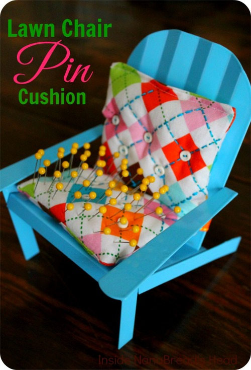 Pin Cushion Crafts - Finished Lawn Chair Pin Cushion