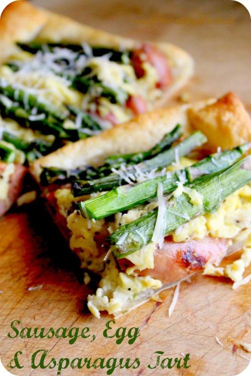 Spring Sausage Egg & Asparagus Tart - Inside NanaBread's Head