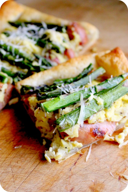 Spring Sausage Egg & Asparagus Tart - Sliced