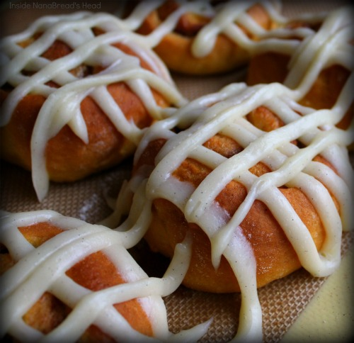 Sweet Potato Cinnamon Rolls - CloseUp