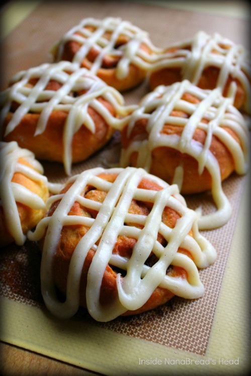 Sweet Potato Cinnamon Rolls - Glazed